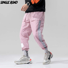 SingleRoad Men Hip Hop Harem Pants Men 2019 Track Side Striped Trousers Joggers Streetwear Male Fashion Casual Pants Sweatpants