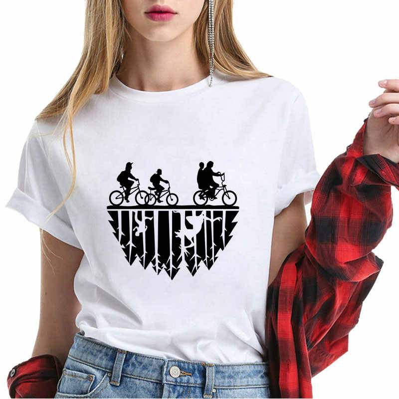 Stranger things Graphic printed t shirt summer camisetas verano mujer 2019 tee shirt femme fashion top casual Round neck clothes