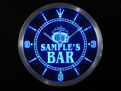 ncw-tm Name Personalized Custom Home Bar Beer Mugs Cheers Neon Sign LED Clock Wholesale Dropshipping
