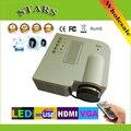1080 P HD Multimídia projecteur UC28 mini Portátil LED Projetor Home Theater HDMI VGA AV USB SD Controle Remoto da lâmpada proyector