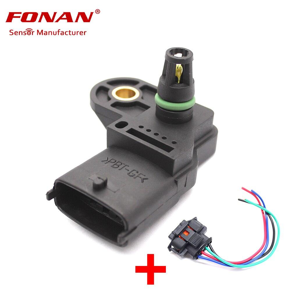 OEM MAP Sensor For Honda CRV Fit Civic Accord 2003-08 37830PNC003 Free Shipping