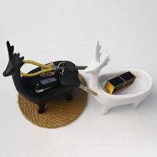 Simple modern resin crafts storage deer ornaments
