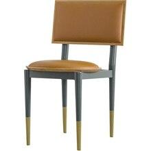 [InYard original] cadeira de jantar em madeira de Cerejeira madeira real/couro macio/saco cadeira cadeira do lazer