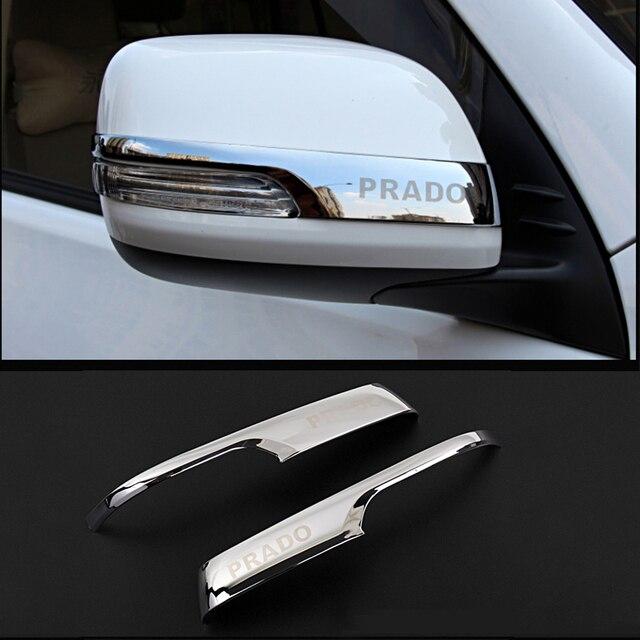 Bande autocollante chromé pour rétroviseurs arrière de voiture, accessoire pour Toyota Land Cruiser Prado 150 2010 2016, 2017, 2018, 2019 2020