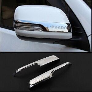 Image 1 - Chrome Car Rearview Mirrors Cover Trim Strip Sticker For Toyota Land Cruiser Prado 150 2010 2016 2017 2018 2019 2020 Accessories