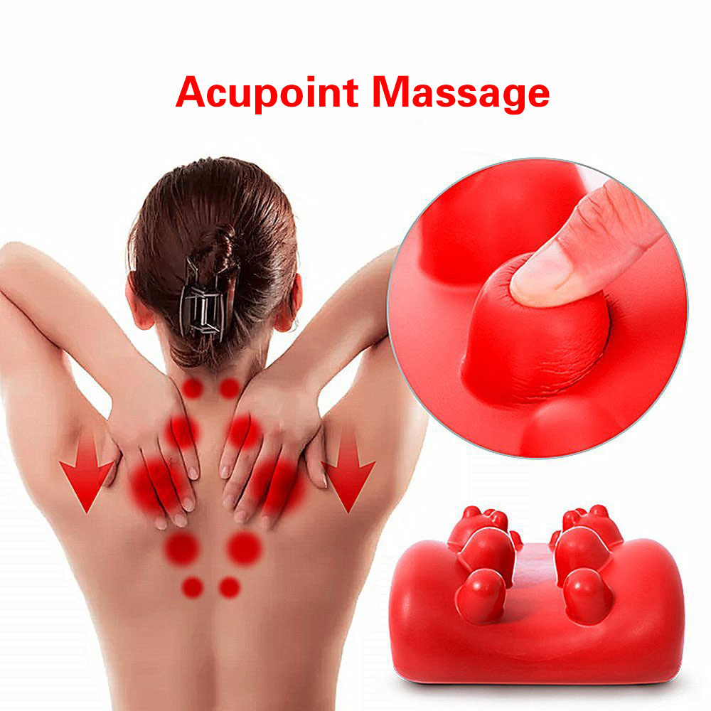 Neck Shiatsu Spine Cervical Massager Muscle Stimulator Neck Shoulder Massager Acupoint Massage Mat Soothing Back Pillow Cushion цена и фото