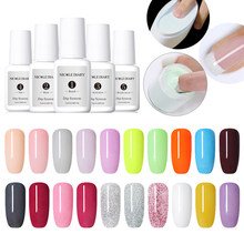 NICOLE DIARY 10g Dipping French Powder Glitter Dip Without Lamp Cure Gradient 7ml Base Top Activator Liquid Nail Art Decorations(China)