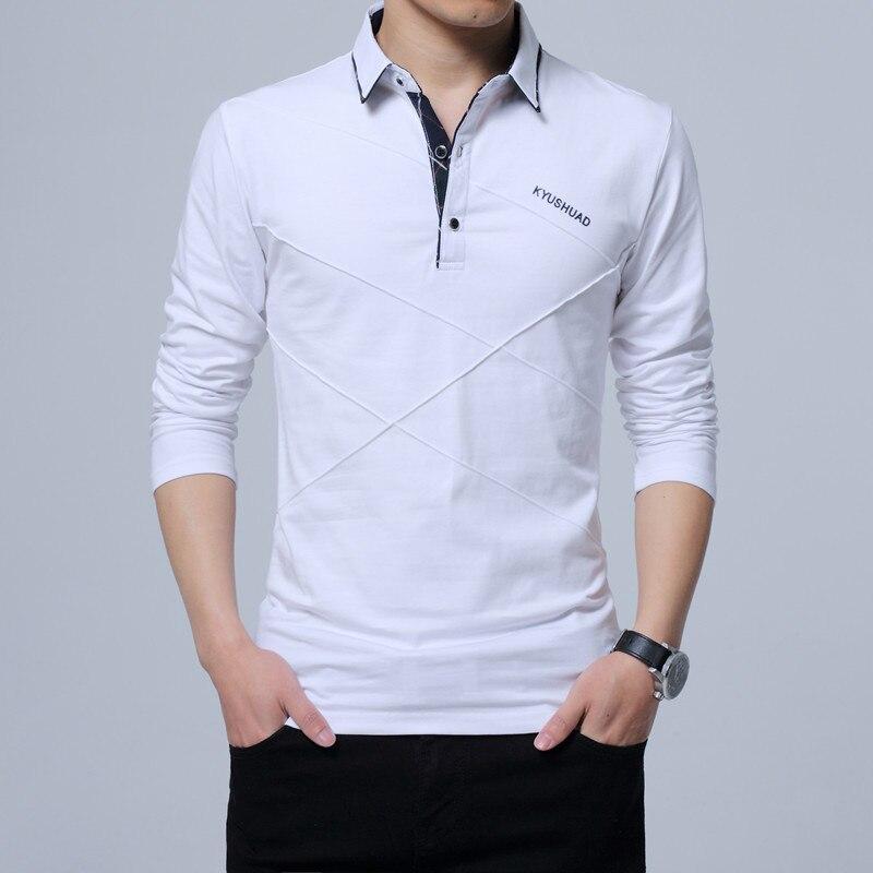 5XL Polo Shirt Collar Men Plus Size 3XL 4XL Autumn Button Brand Men Polo Shirt Long Sleeve Casual Male Shirt Dress Polo Shirts 10