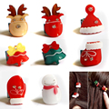 F201 Free Shipping Baby girl Christmas ornaments fashion snowman deer Christmas tree mini round buckle hair clip caught 8 pcs/se