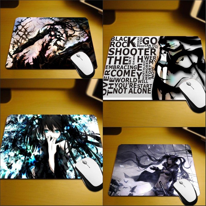 Mairuige Black Rock Shooter Small Size Mouse Pad Anime Girls Cool Animation Products Miku Pattern Mouse Pad Pc Table Desk Mat
