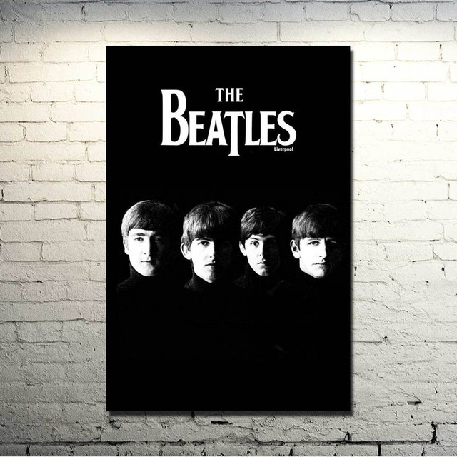 The Beatles Super Rock Band Art Silk Fabric Poster Print 13×20 24×36 Music Pictures Bedroom Decor (click to see more) -1