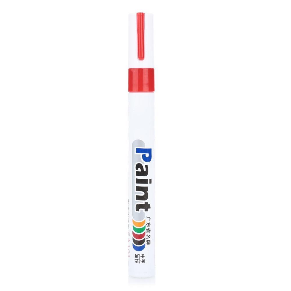 10 цветов водонепроницаемая автомобильная шина масляная автомобильная краска ручка краска ing Mark Ручка Авто резиновая шина протектора CD металлический маркер с перманентной краской - Цвет: red