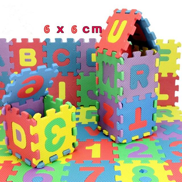 CIKOO litera alfabetu zabawki dla dzieci dziecko maty do puzzli 60MM x 60MM dywan dzieci 36 sztuk język pianka zabawka edukacyjna