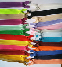 Wholesale high quality 3# Invisible Zippers 50PCS DIY 60CM Close End Nylon For Sewing Tailor Tools 25 Colors