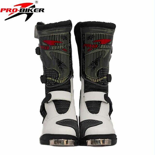 bfe1e3c419b Botas de moto de cuero de microfibra para motociclista profesional botas de  carreras de velocidad motocross