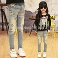 new spring autumn 2017 summer fashion children kids denim brand jeans pants trousers for girls casual clothing retail 2-9 years