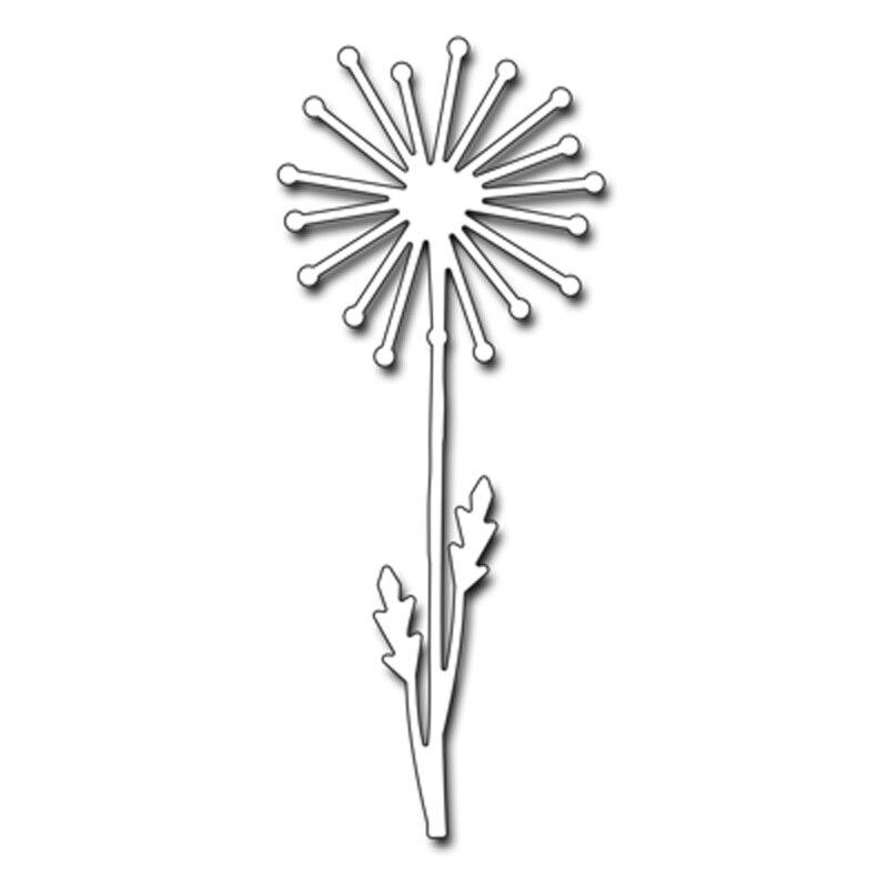 Hollow Flower Dandelion Metal Cutting Dies for DIY