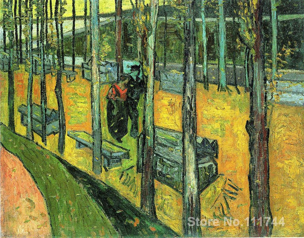 Christmas Gift Alychamps Autumn by Vincent Van Gogh oil painting reproduction High quality HandmadeChristmas Gift Alychamps Autumn by Vincent Van Gogh oil painting reproduction High quality Handmade