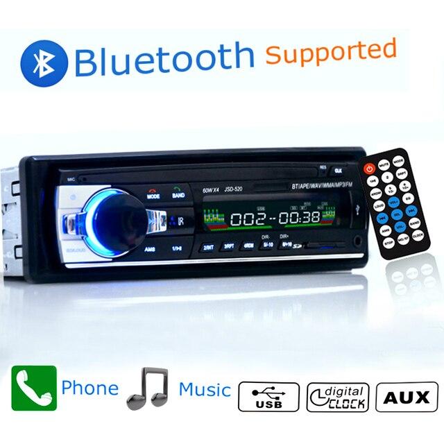 12 V 1 din Jogador Som Do Carro Do Bluetooth Rádio Do Carro Telefone AUX-IN MP3 FM/USB/radio remote Para aux Entrada de Áudio Do Carro Do telefone FM Receber