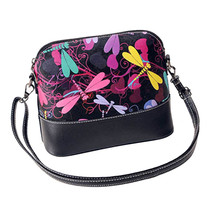 Hot Selling Women Printing Shoulder Bag Leather Purse Satchel Messenger Bag Causal Bag Free Shipping