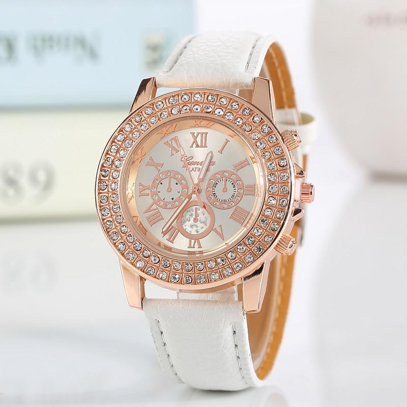 Новый бренд Для женщин часы маленький циферблат аналоговые кварцевые часы Топ бренд класса люкс искусственная кожа