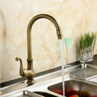 Kitchen Faucets Mixer Taps Antique Brass Finished Hot And Cold Deck Mounted With Ceramic Torneiras Para