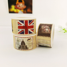 25mm*10m Vintage stamp paper washi tape DIY decoration scrapbooking planner masking tape adhesive tape label sticker stationery недорого