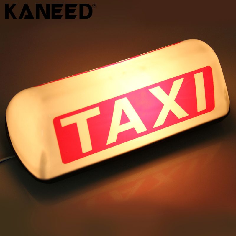 LED TAXI Roof Sign Bright Top Board Roof Sign Light Indicator Cab Lamp 12V 45smd led white blue green red yellow car auto cab sign top light vehicles windscreen white led lamp dc 12v taxi light