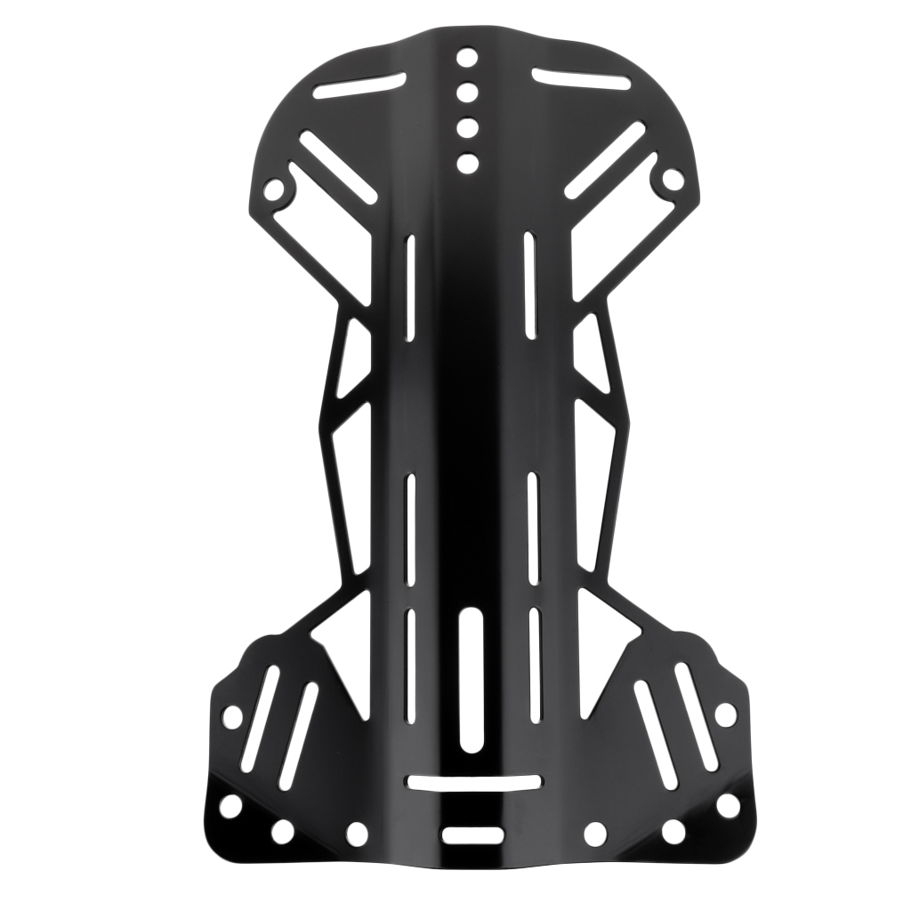 MagiDeal Standard Scuba Tech Diving 5052 Aluminum Backplate for BCD Harness System Hardware Diving Accessories Black