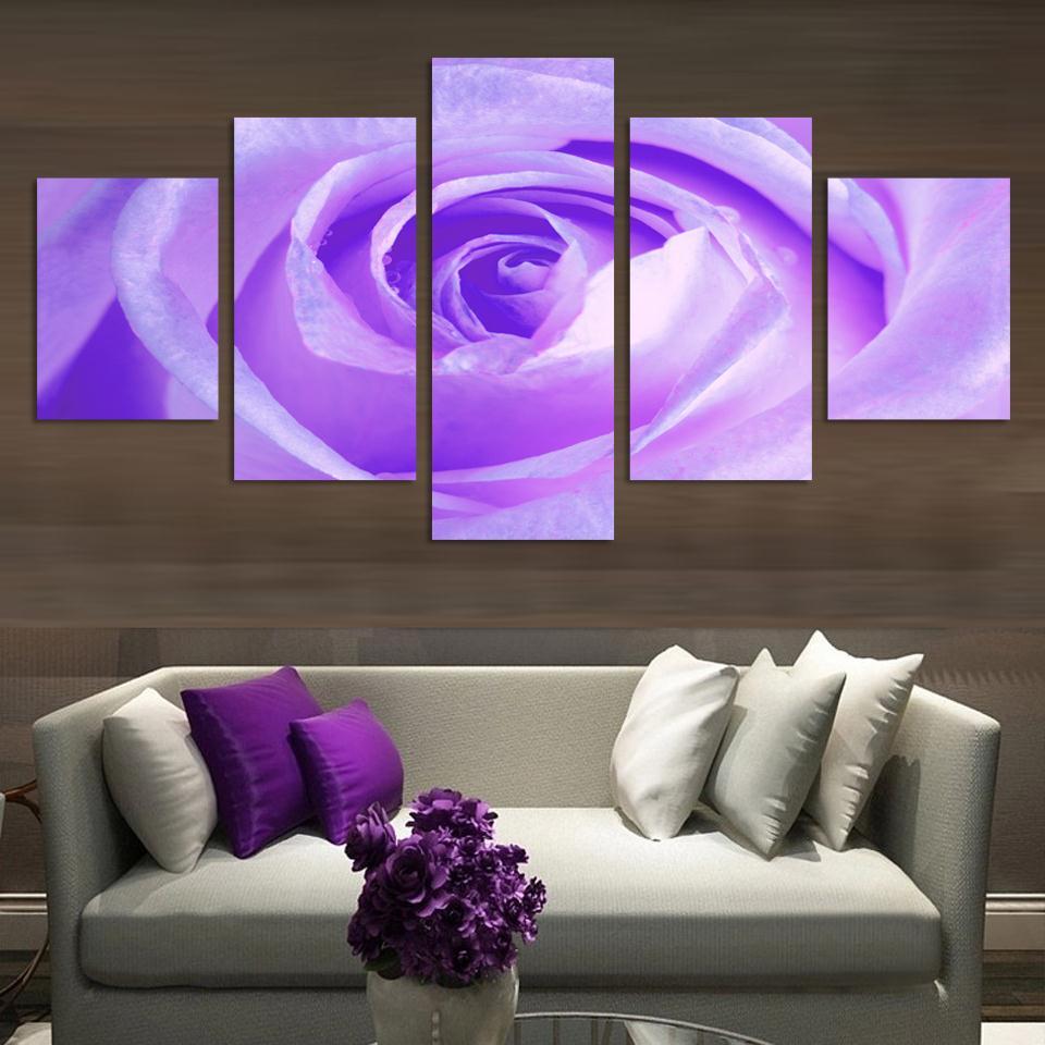 Online kopen wholesale paars canvas print uit china paars canvas ...