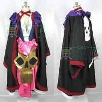 [Customize] Anime Bleach Figure Katen kyokotsu Kimono Skull Uniform Dress Any sizes Halloween Costume for Women & Men free shipp