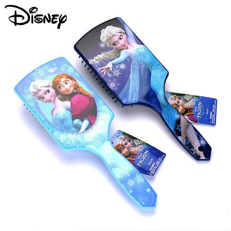 Peigne princesse des neiges Disney   Brosses à cheveux, princesse Anna Elsa, soins pour bébés filles, jouets congelés, cadeaux d'anniversaire pour enfants