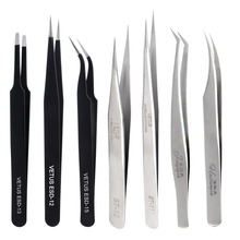 VETUS pincety do przedłużania rzęs ze stali nierdzewnej indywidualne sztuczne rzęsy szczypce do rzęs profesjonalne narzędzia do makijażu