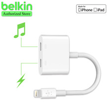 New Arrival Belkin MFi Certified 8 pin Lightning Audio+Charge Rockstar Adapter Cable  for iPhone 7 Plus 6s for EarPods Headphone