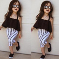 2017 Spring Summer Girls Dress Fashion Black Dresses Top Shirt Toddler Baby Girls Clothes Children Clothing Costume