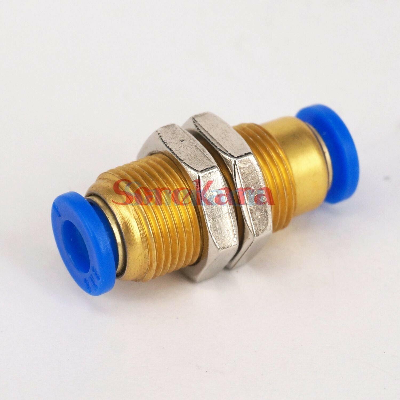 Bulkhead pneumatic push fit fittings Air Pneumatic 4 6 8 10 12 MM