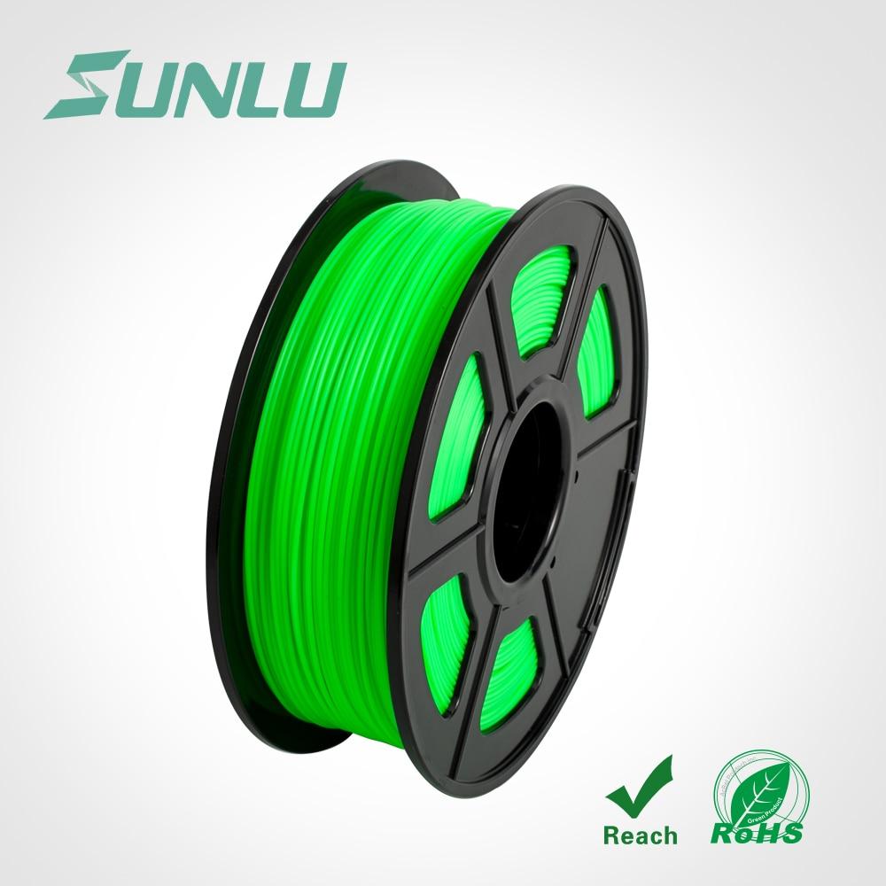 3D Pen Filament Pla 1kg/2.2lbs Sunlu Original Plastic 1.75mm For Printers Or Pens Green Color