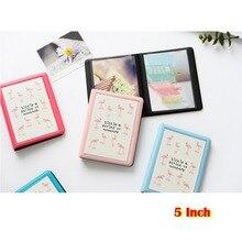 32 tasche Colorato Flamingo Mini Photo Album di Foto di Caso Di Immagazzinaggio per 5 Pollici Foto/Instax AMPIO Film