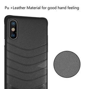 Image 4 - Caixa Do Telefone de luxo para iphone 6 7 8 7 6s s Plus xr xsmax pc couro telefone tampa traseira anti arranhão sujeira reistant negócio saco coque