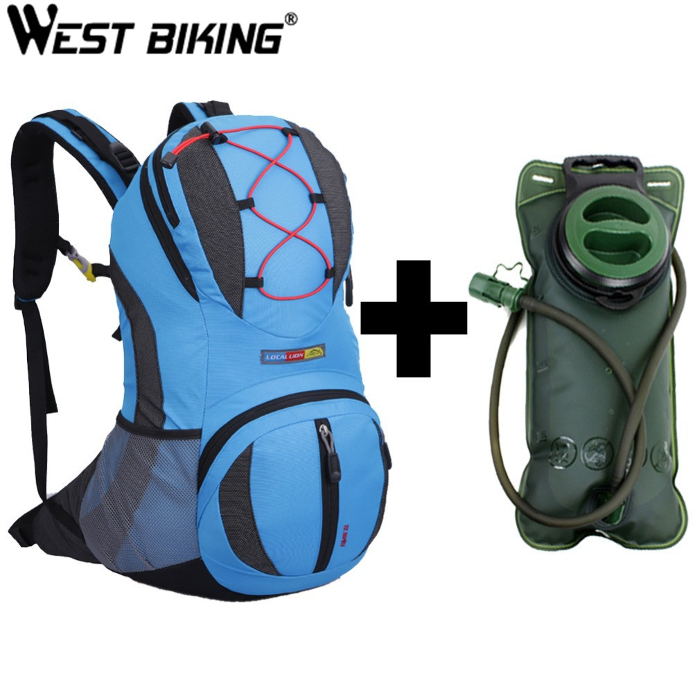 WEST BIKING 22L Backpack for Bike Bicycle Cycling Bag Travel Running Sport Cycling Backpack+2L Water Bag Road Mountain Bag-in Bicycle Bags & Panniers from Sports & Entertainment    1