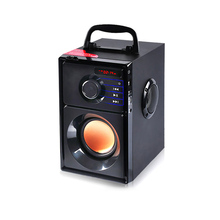 ship from RU Mini Wireless Bluetooth Speaker Wooden Subwoofer Mp3 Play FM Radio Computer Portable @JH