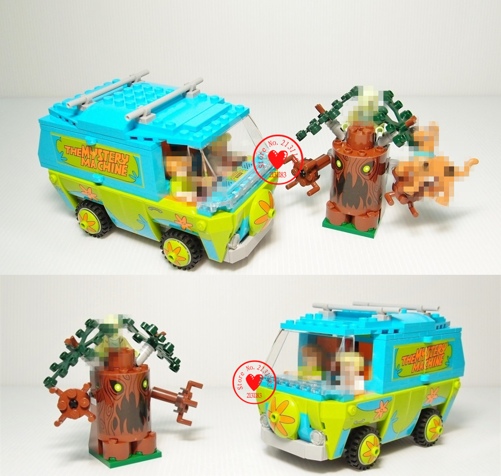 bela 10430 Scooby Doo model Building Block kit bricks Mystery Machine Bus figure Toys Compatible With lego kid gift set стоимость