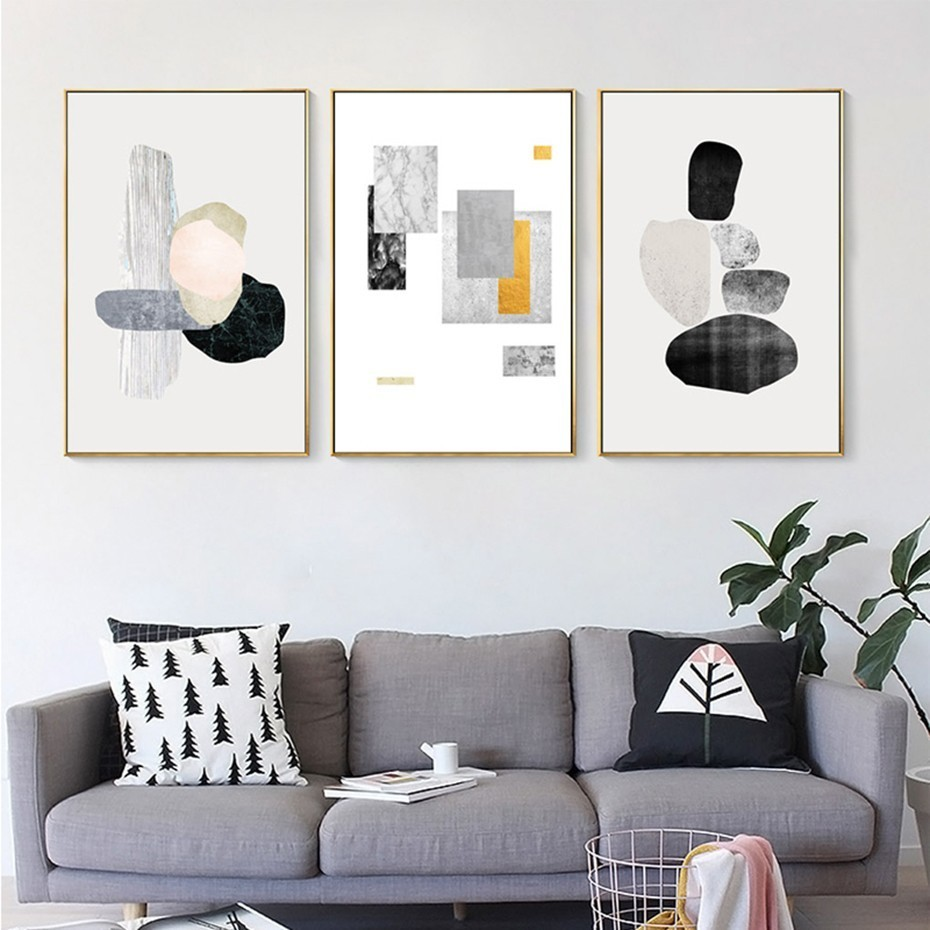 Wall Art Prints And Posters Sure Life Abstract Geometric Nordic Canvas Printing Paintings