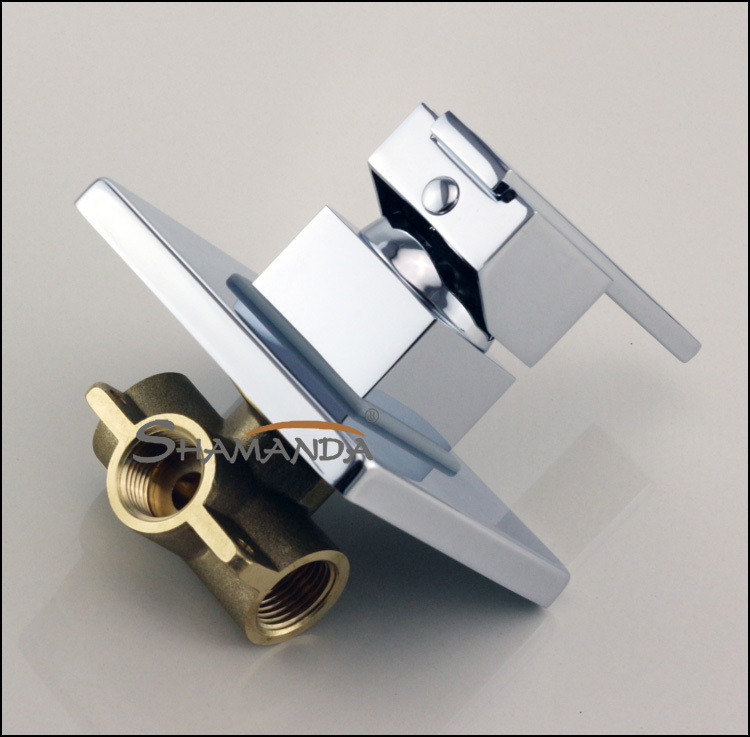 Bathroom Products In Wall Mounted Faucet Bath and Shower Mixer Valve Brass Chrome Single Function Actuated Faucet Valve-17558