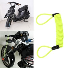 120cm Green Security Anti Thief Motorbike Motorcycle Wheel Disc Brake Alarm Lock & Bag and Reminder Spring Cable Free Shipping