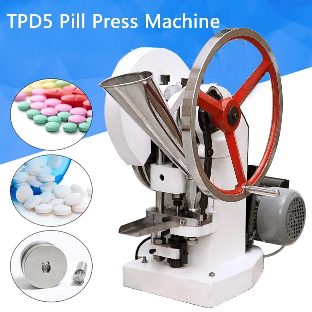 (Navire du ROYAUME-UNI) Automatique Seul Coup de Poing Tablet Presse Machine Pilule Presse Pellet Faisant La Machine pillola pressa TDP-5