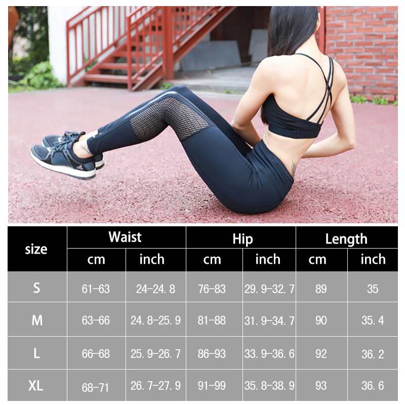 Women Elastic Splice Sport Leggings Fitness Yoga Pant Leggins Gym Running Just Pants Sportswear Professional Sportswear