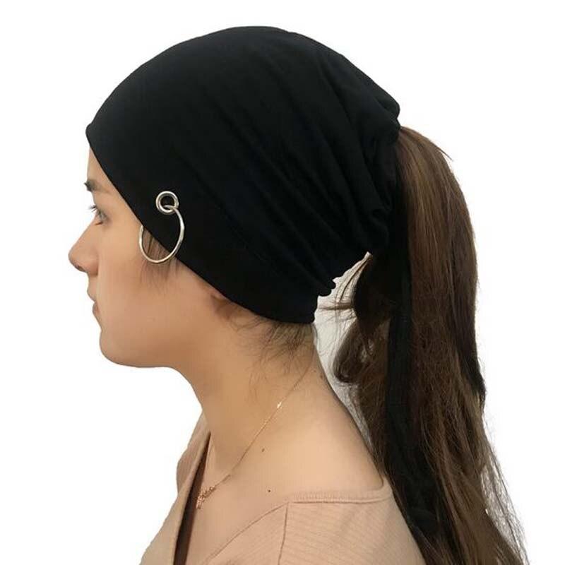 XEONGKVI korean Iron Hoop Empty Head Knitted Cap Spring Autumn Brand   Skullies     Beanies   Hats For Women And Men Sleeve Cap 50-60CM