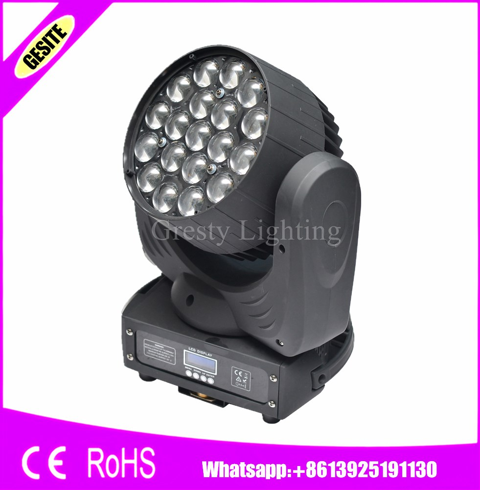 2pcs/lot 19x15w 4in1 Led Moving Head Circle Rgbw Lamp 4in1 Beam Wash And Zoom Effeect 19pcs 15w 10/13ch For Stage Commercial Lighting Lights & Lighting