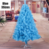 3 Sizes Christmas Decoration Luxury Encryption Blue Christmas Tree PVC General Christmas Tree Iron Feet MCC217